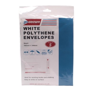 Secure Extra Strong Polythene Envelopes 165x240mm (50 Pack)