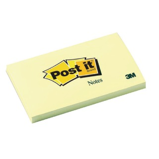 Post-it 76x127mm Canary Yellow Notes (12 Pack) 655Y