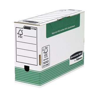 Bankers Box Green Transfer File Foolscap 120mm (10 Pack) 1179201