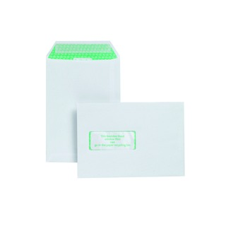 C5 Window Envelope 120gsm Peel and Seal White (500 Pack)