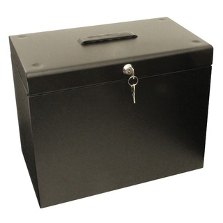 Black A4 Metal File Box A4Black