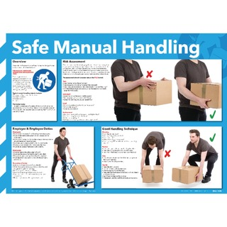 fe Manual Handling Poster 420x594mm WC245