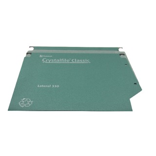 Crystalfile Classic Lateral 330 Suspension Files 500 Sheet Green (25 Pack)