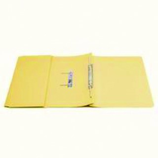 Transfer Pocket File Foolscap 35mm Capacity Yellow (25 Pack)