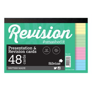 48 Revision Notecard Pad Lined Multi-Coloured (20 Pack) CR50AC