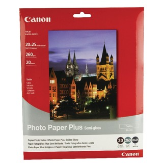 Bubble Jet Semi-Gloss 8x10in Paper 260gsm (20 Pack) 1686B018