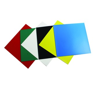 Assorted Colours 150mm Magnetic Squares (6 Pack) 1901104