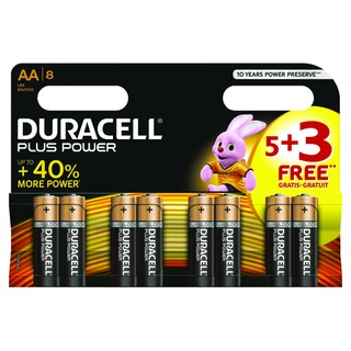 1.5V AA Alkaline Battery (8 Pack) PLUS POWER AA 5+