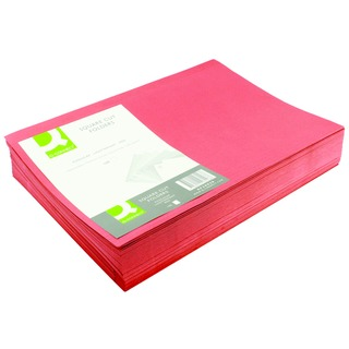 Red Square Cut Folder Lightweight 180gsm Foolscap (100 Pack)