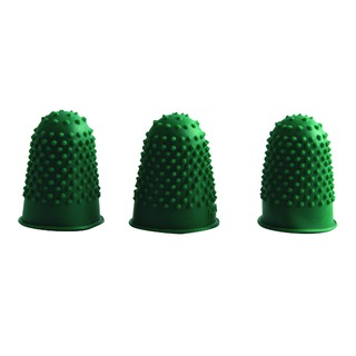 Green Rubber Thimblettes Size 0 (12 Pack)