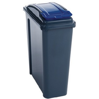 25 Litre Blue Recycling Bin With Lid 384286