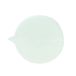 Secure Plain Round Seals White (500 Pack) S1W