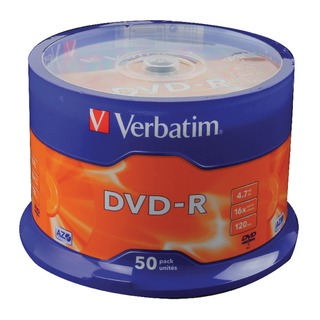 4.7GB 16x Speed Spindle DVD-R (50 Pack)