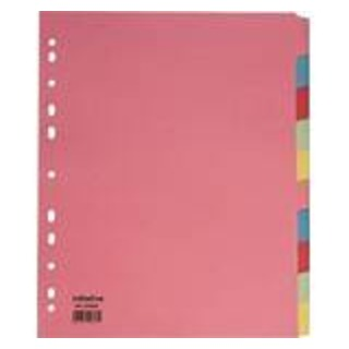 Initiative Divider A4 Manilla 20 Part Multi-Coloured 150gsm 100% Recycled